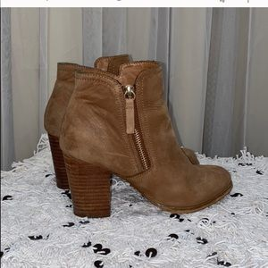ALDO Tan suede booties Size: 7